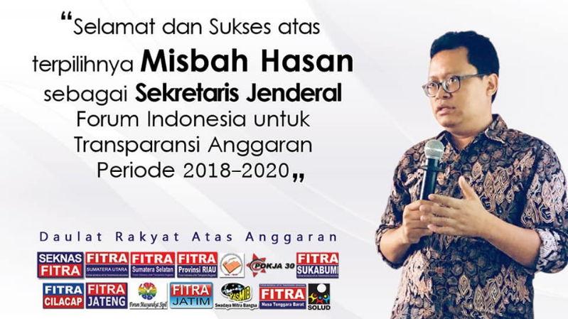 Bertemu Mas Misbah Hasan, Sang Sekjen Fitra Indonesia