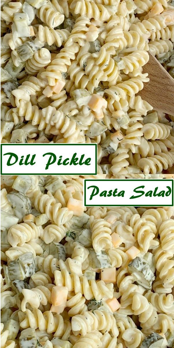 Dill Pickle Pasta Salad #Pastarecipes