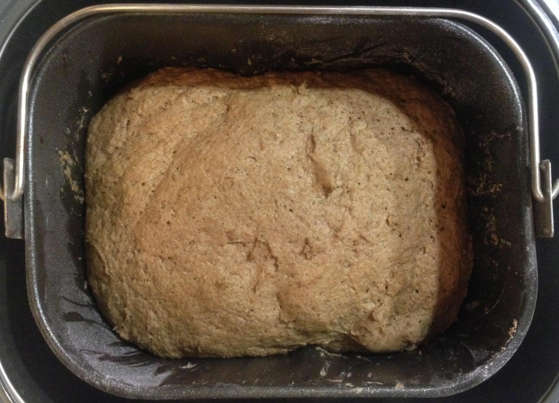 Выпекается в режиме «ржаной хлеб» 3 часа 30 минут.