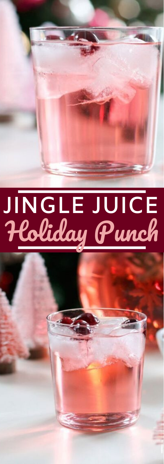 Jingle Juice Holiday Punch #drinks #punch #alcohol #christmas #cocktails