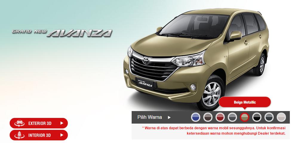 Varian Warna Grand New Avanza All Toyota Yaris Trd Sportivo 2018 2015 Dan Veloz Jasa Ada 8