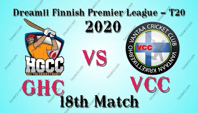 Who will win GHC vs VCC 18th T10 Match