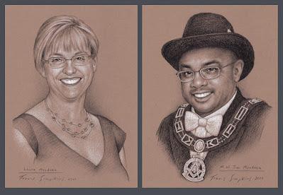 Laura Mendoza and M.W. Jim Mendoza. Past Grand Master. Grand Lodge of Washington. by Travis Simpkins