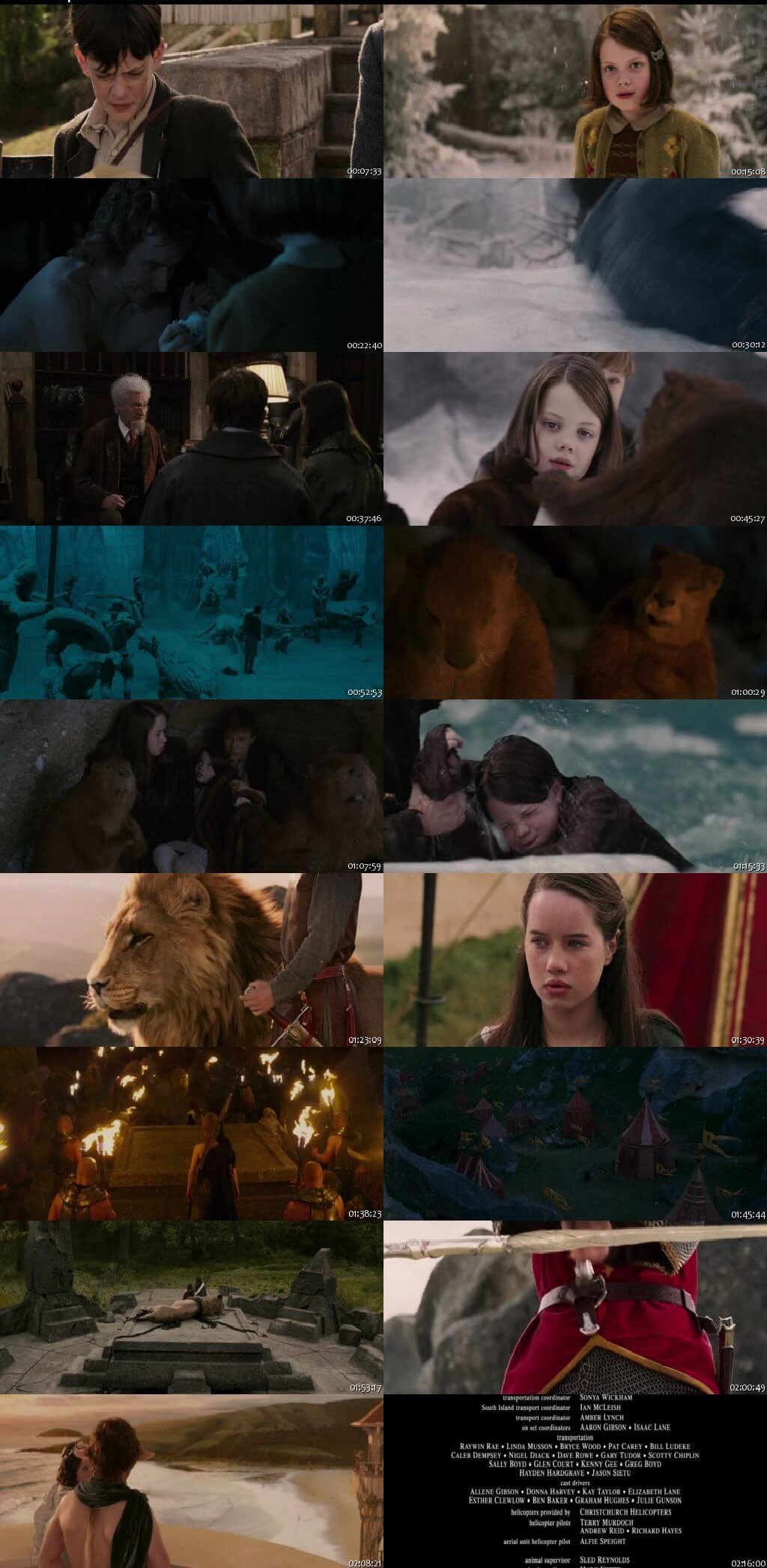 Screen Shot Of The Chronicles of Narnia: The Lion, the Witch and the Wardrobe 2005 In Hindi English Dual Audio Bluray