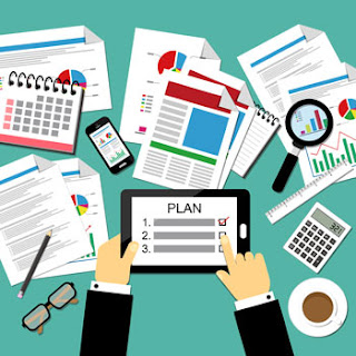 Marketing plan for business illustration