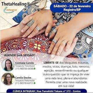 ThetaHealing® na Clínica Integrar em Registro-SP neste 22/02