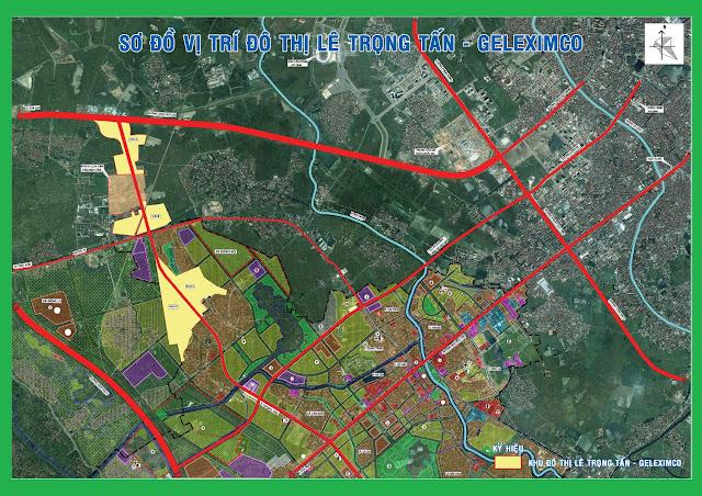 Sơ đồ vị trí khu đô thị Lê Trọng Tấn