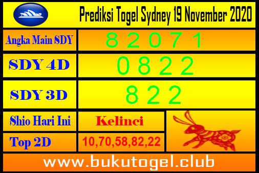 Syair Sydney 19 November 2020