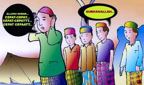 Jadi Imam Jangan Menyusahkan Makmum, Jadi Pemimpin Jangan Malah Mbebanin