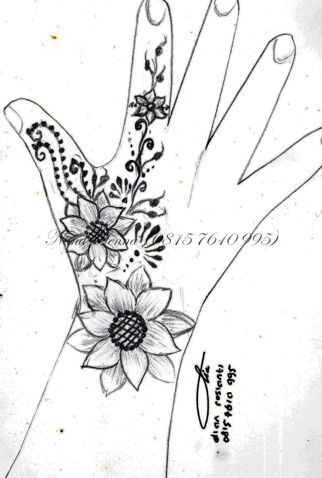 NANA HENNA  UNGARANSEMARANG  HENNA DESIGN ON PAPER by