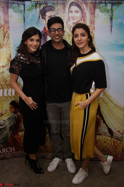 Anushka Sharma with Suraj Sharma and Mehrene Kaur Pirzada at Interview For movie Phillauri 4.JPG
