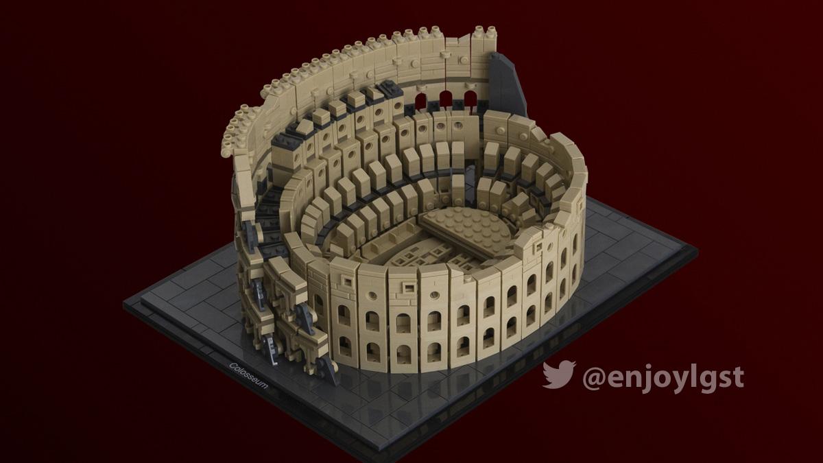 ローマのコロッセオがレゴ(LEGO)アイデア製品化レビュー進出!2020年第3回1万サポート獲得デザイン紹介