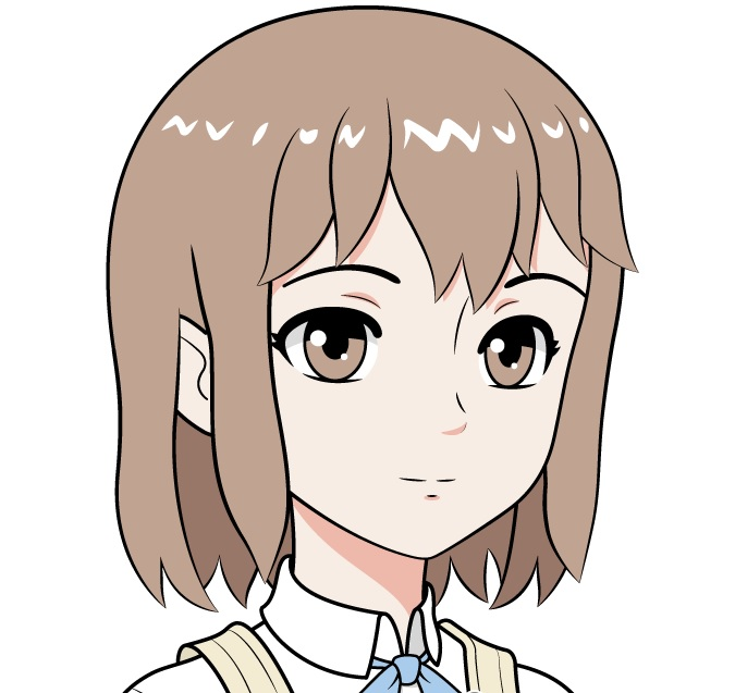 Wajah gadis sekolah anime