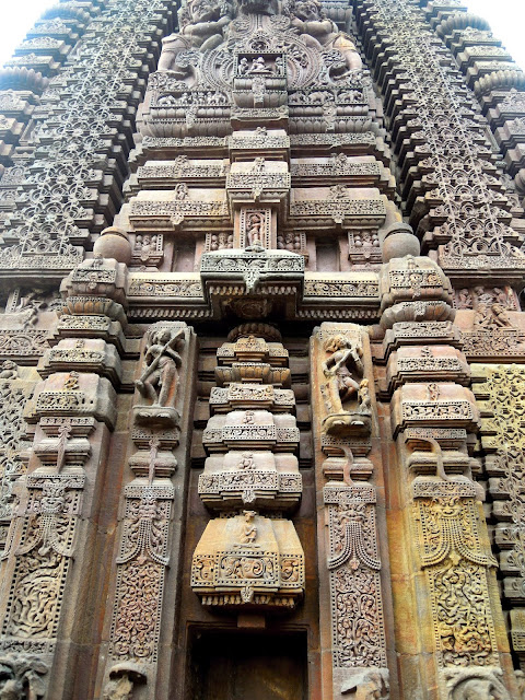 The ornate temple spire (deul), Mukteshwar Temple, Bhubaneshwar