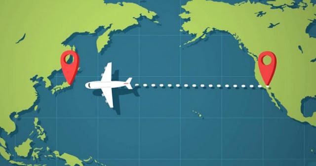 Τα αεροπλάνα δεν πετάνε ποτέ πάνω από τον Ειρηνικό Ωκεανό και υπάρχει σοβαρός λόγος