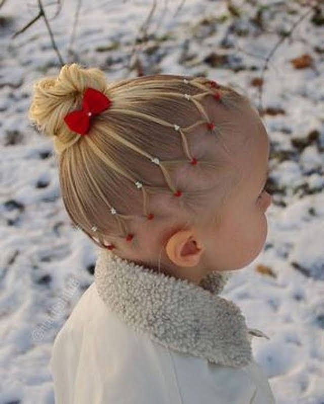 Christmas bow hairstyle