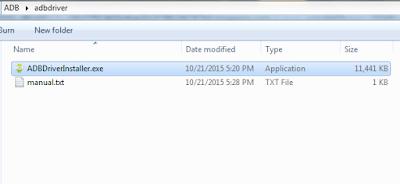 ADB driver installer folder