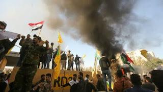 Markas Syiah Hizbullah Irak Dibakar