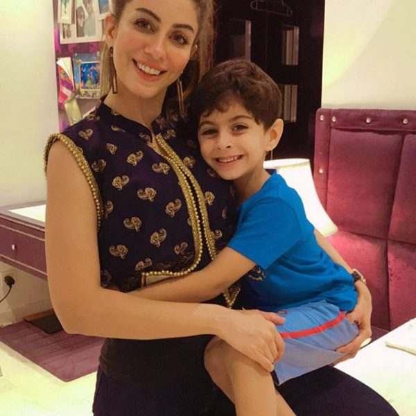Sadia Faisal with her Son