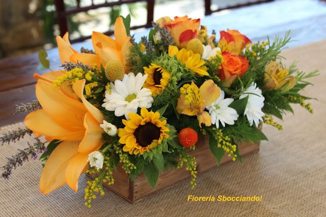 Matrimonio Coi Girasoli : Allestimento floreale matrimonio con girasoli