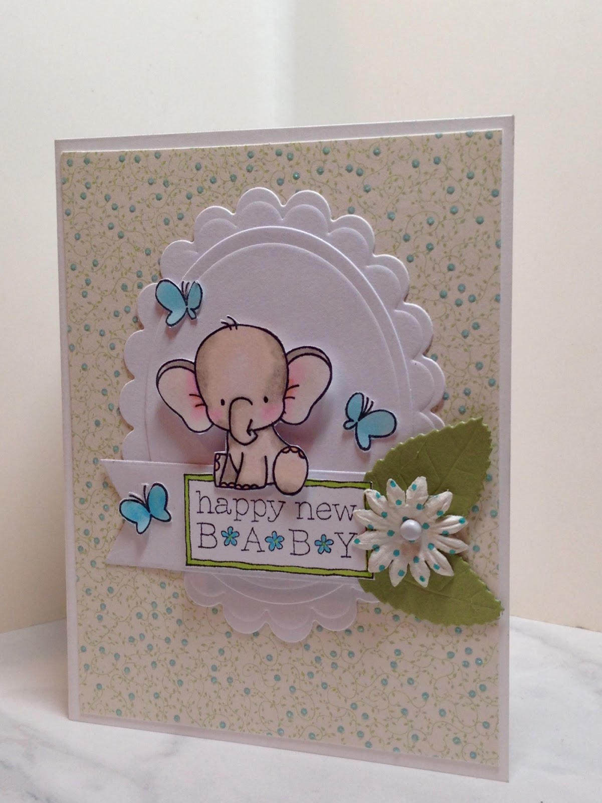 Handmade baby card Personalisation Optional perfect for welcoming a newborn into the world or a first birthday