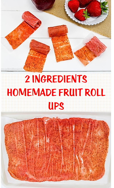 2 Ingredients Homemade Fruit Roll Ups