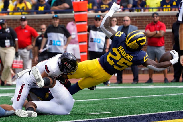 This might have been the most challenging touchdown Michigan scored all game.