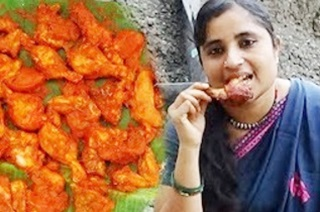 Amazing Chicken Fry Recipe   Broiler Chicken Leg Pieces Fried South Indian Village Style Cooking
