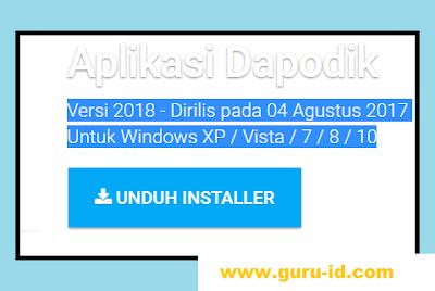 gambar aplikasi dapodik veris 2018