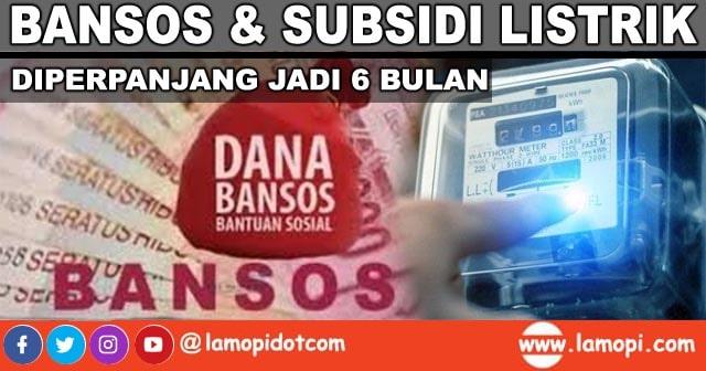 Bansos dan Subsidi Listrik Diperpanjang