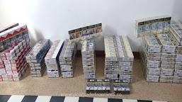 Peste 10.800 de țigarete, ascunse într-un microbuz, descoperite la P.T.F. Calafat