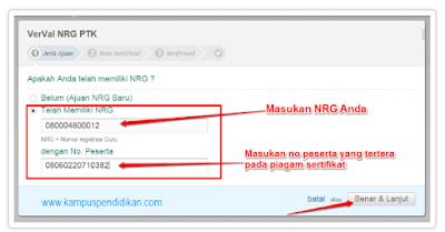 Panduan Verval NRG Sertifikasi kedua atau Selanjutnya