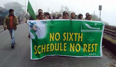 No sixth Schedule no Rest - GNLF