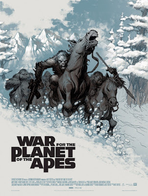 War for the Planet of the Apes Movie Poster Screen Print by Eric Powell x Mondo