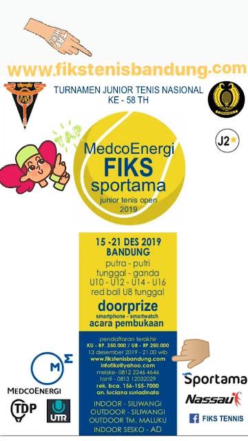 MedcoEnergi FIKS Sportama Junior Tenis Open 2019