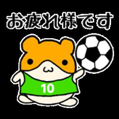 Sticker of moms supporting junior soccer