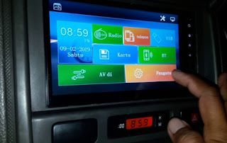 Head Unit Mobil Skeleton SKT-8197