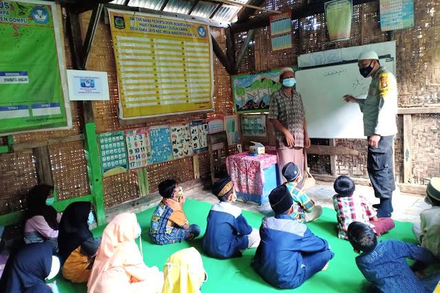 Bhabinkamtibmas Bakajaya rindu mengajar anak-anak ngaji di TPQ