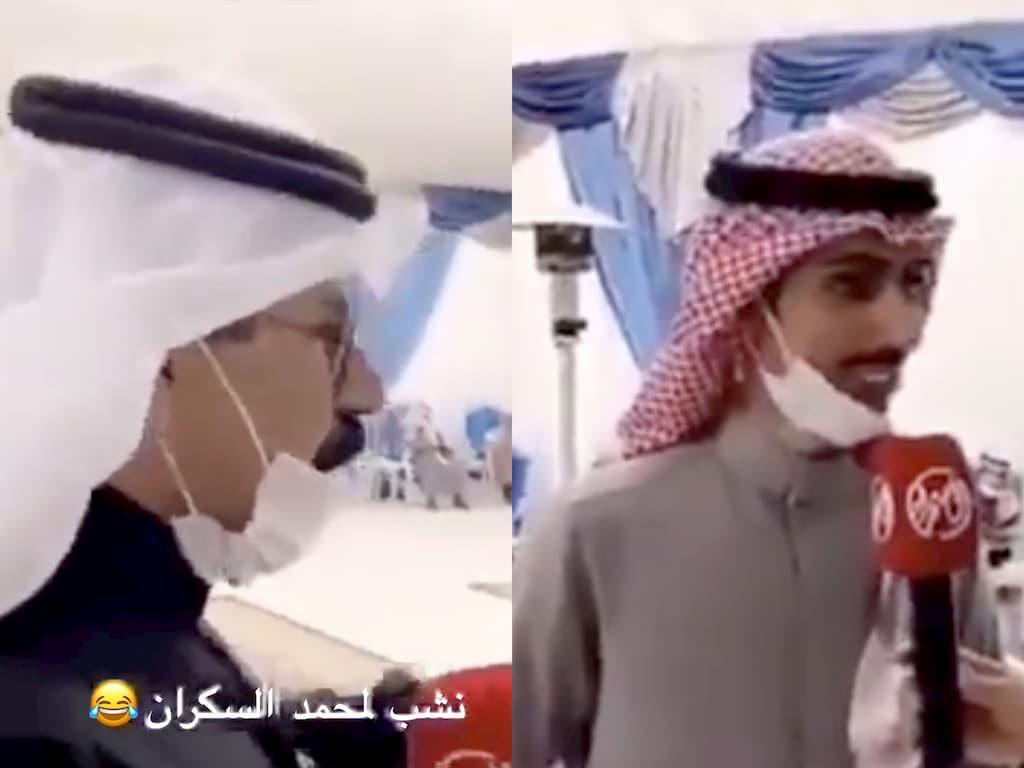 ردة فعل الشاعر السعودي محمد السكران على أحد الأشخاص المستائين منه تثير سخرية النشطاء