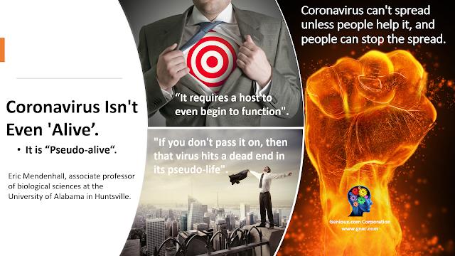 Genioux WINNING Knowledge: People can stop the spread of coronavirus. It will die.