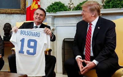 Bolsonaro com Trump