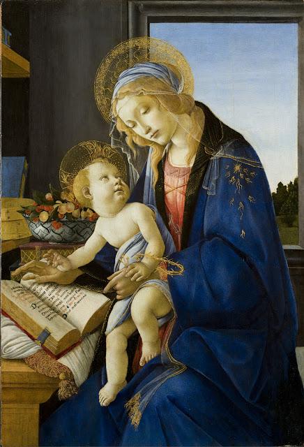 Alessandro Filipepi dit Botticelli (vers 1445 – 1510), Madone à l'Enfant dite Madone au livre, vers 1482-1483, tempera sur bois, 58 x 39,6 cm, Milan, Museo Poldi Pezzoli © Museo Poldi Pezzoli – fotodarte