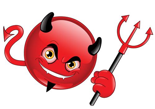 Devil smiley