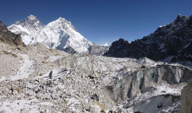 Climate change eats the glaciers of the Himalayas