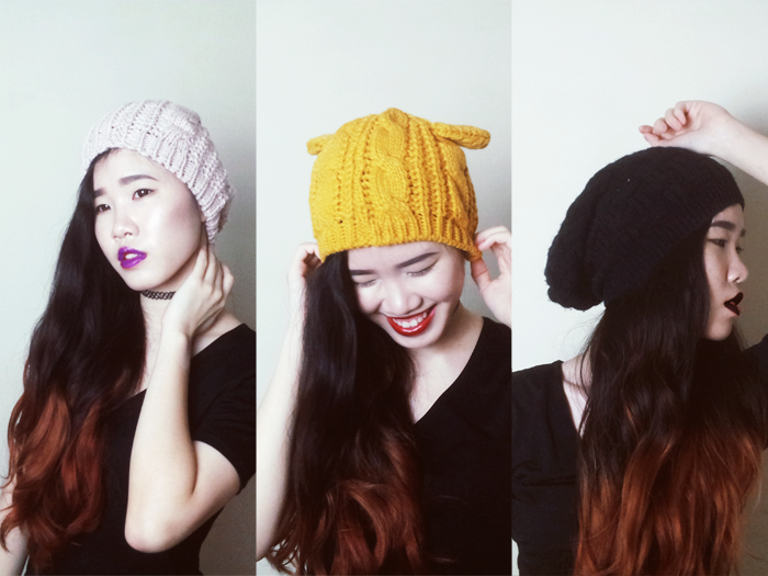 Brunei Blogger May Cho, The Mayden, Dressgal, knitted hats