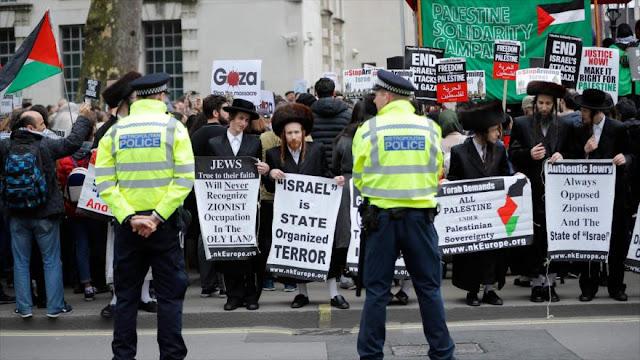 Judíos rechazan en Londres represión israelí contra palestinos