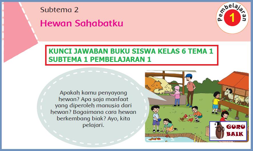 Dengan itu kami menyajikan alternatif kunci jawaban buku tematik kelas 6 tema 6 subtema 2 lengkap sebagai sumber media. Jawaban Tematik Tema 1 Kelas 6 Subtema 2 Pembelajaran 1 Halaman 63 64 66 71 Dan 72 Guru Baik