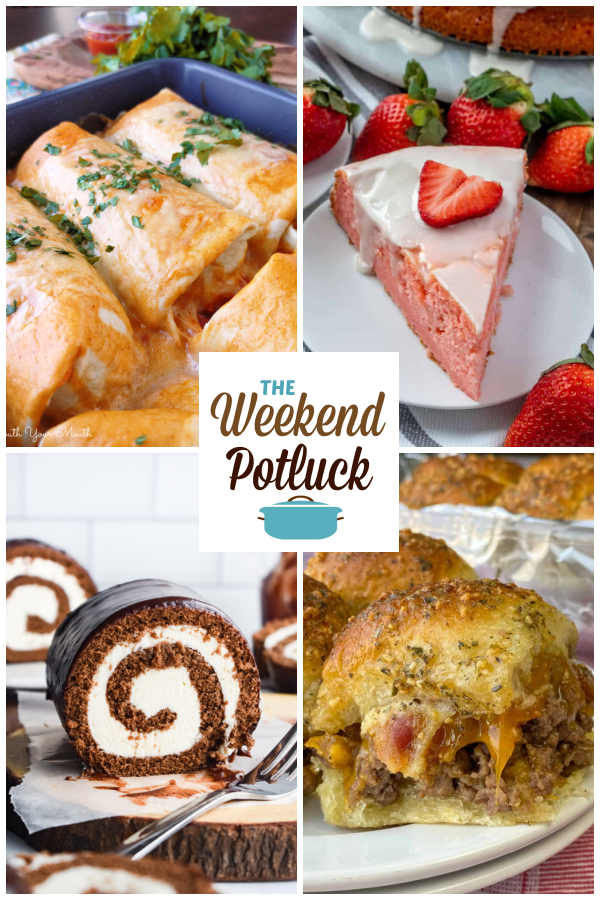 A virtual recipe swap with Smothered Beef & Bean Burrito Bake, Strawberry Ricotta Cake, Swiss Roll Cake, Bacon Cheeseburger Sliders and dozens more!