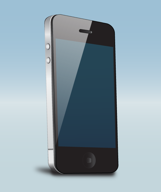 Teléfono móvil, celular o smartphone en perspectiva