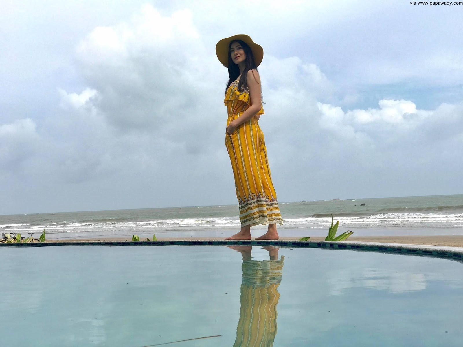 Yu Thandar Tin Looks Beautiful At Chaung Thar Beach